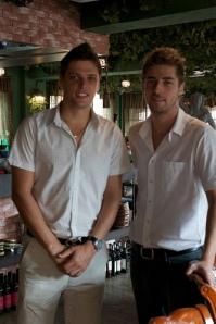 Mihal and Filip Ashminovi, founders of Zelen Bulgarian Restaurant in Seoul